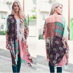 New Boho Patchwork Kimono Cardigan